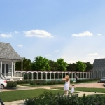 Pointe-Marie Rendering 8 - Lake Chapel and Creole Cottage